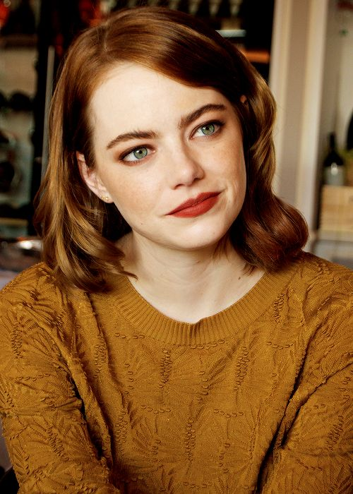 Emma Stone at the 'La La Land' Press Conference at the Danieli Hotel on September 1, 2016 in Venice, Italy