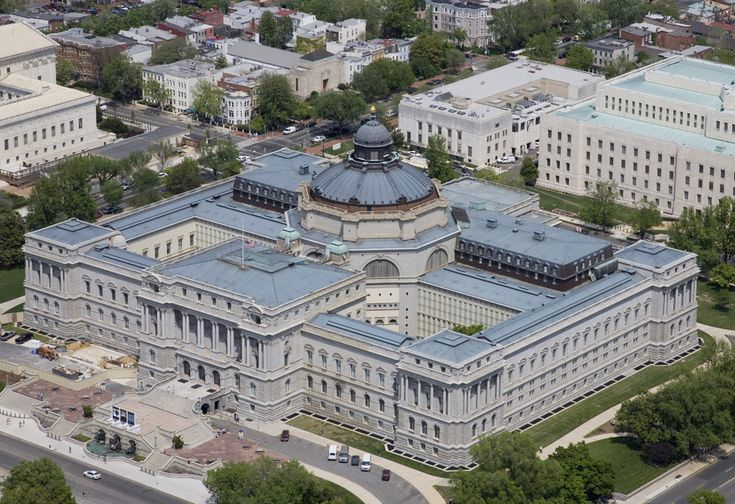 Library of Congress Washington DC done in a Beaux-Arts Architectural style