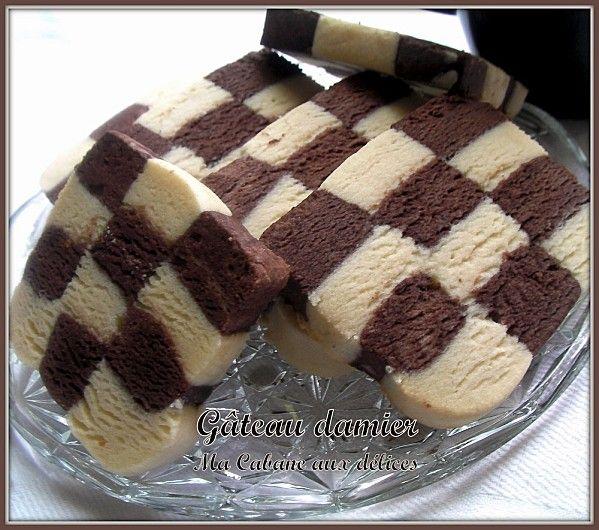 gateau damier chocolat pistache home baking for you blog photo. Black Bedroom Furniture Sets. Home Design Ideas