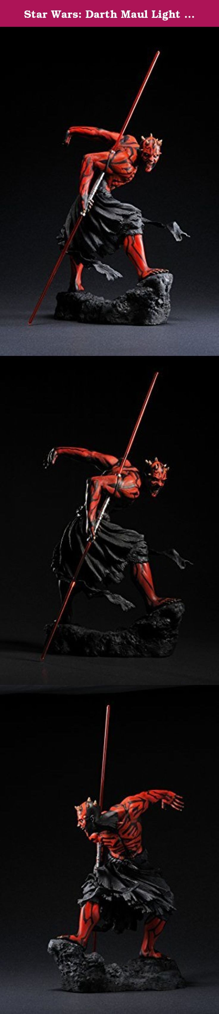 Star Wars: Darth Maul Light Up ArtFX Statue 2nd Edition by Kotobukiya. STAR WARS DARTH MAUL ARTFX STATUE UKIYO-E VER STATUE KOTO INC. From Kotobukiya. Newly reissued for North American collectors! The 1/7th scale Star Wars ARTFX series is back, and it's back in a big way! In this line of great heroes and villains from the Star Wars universe is the Sith master of the double-bladed lightsaber, DARTH MAUL. Appearing in Episode I: A Phantom Menace, Maul, an alien Zabrak, was the first member…