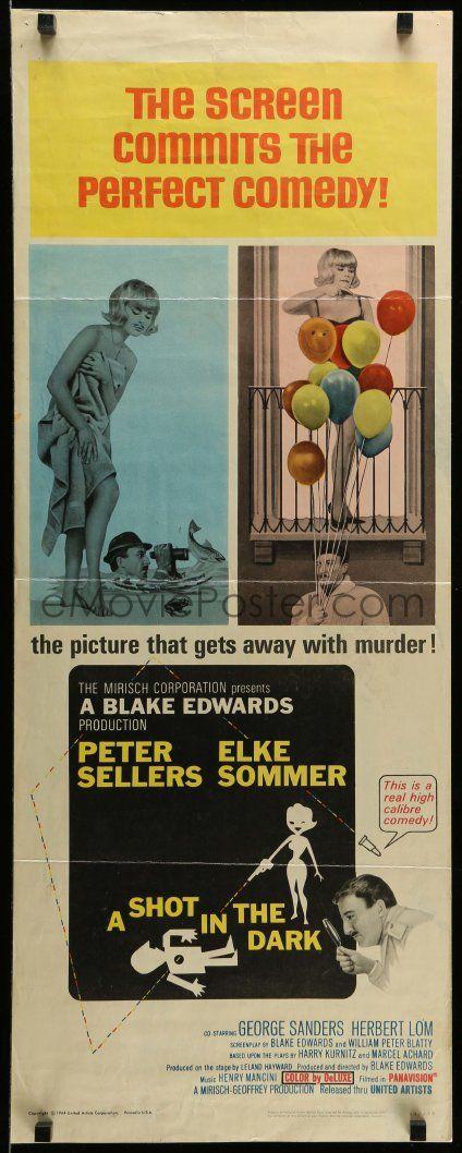 eMoviePoster.com: 3m783 SHOT IN THE DARK insert '64 Blake Edwards, Peter Sellers, sexy Elke Sommer, Pink Panther