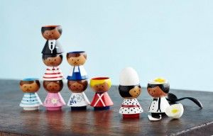 egg cups to attention! #bordfolk #eggcups #handpainted