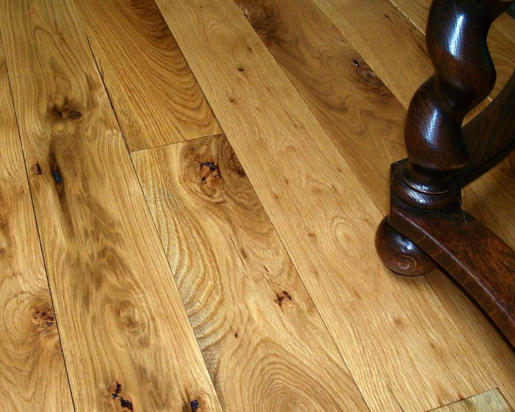 Distressed Grade White Oak Plank Floor Natural With