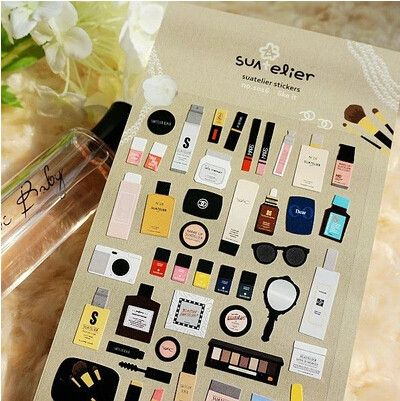 New special makeup series diary stickers Kawaii Single-piece Package Gift sticker WJ0090