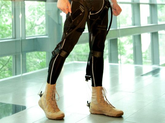 DARPA-funded exoskeleton suit developed by Harvard to assist with mobillity