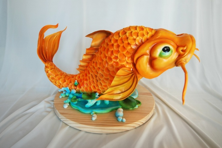Koi Fish Cake Sculpture. I'll have a filet of fish, please.