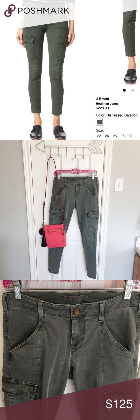 """J Brand Houlihan Green Khaki Jeans Size 27! Still on Shopbop website for $228! Color is """"Vin Olive"""". Gently worn with no rips, stains, pulls or pills. J Brand Jeans Skinny"""