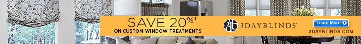Get 20% Off On #Custom  #Blinds Window Treatments At 3DayBlinds For Limited Time With Free Installation Coupon Code