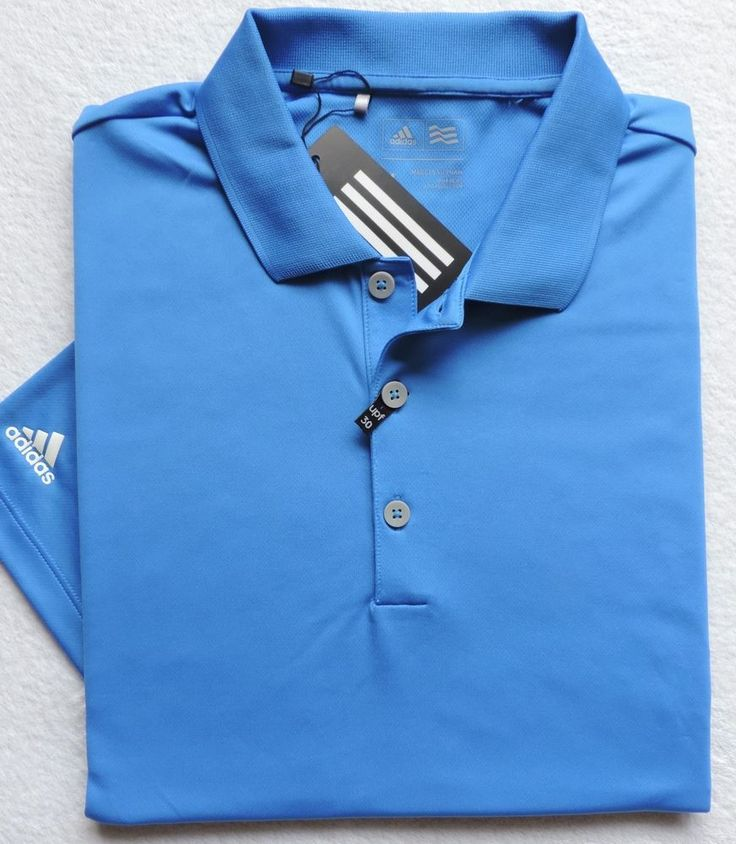 adidas Golf Men's Performance Polo Shirt, Ray Blue #adidas #PoloRugby