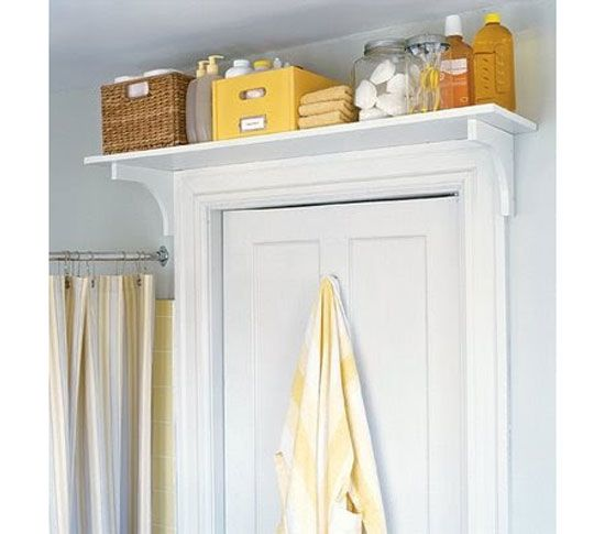 Storage Above Bathroom Door | DIY Bathroom Storage Ideas for Small Spaces