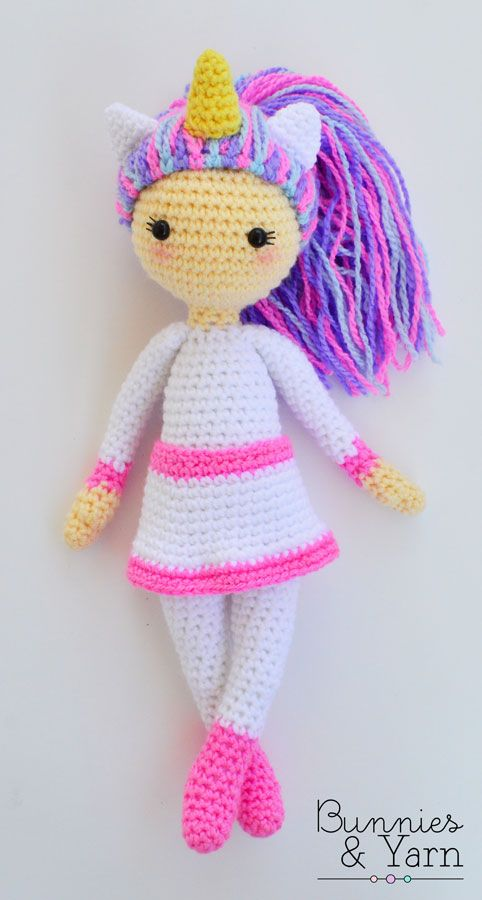 Crochet Pattern - Linda the Unicorn Doll - Amigurumi