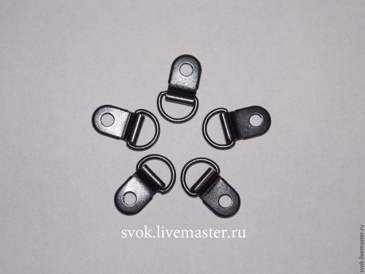 Купить Петля обувная, петля для обуви, металл - темно-серый, черный никель, никель, черный