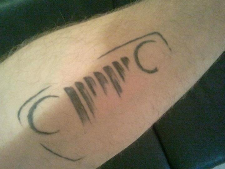 Jeep Tattoo--love this cause i feel like non-jeepers would have no clue what it is