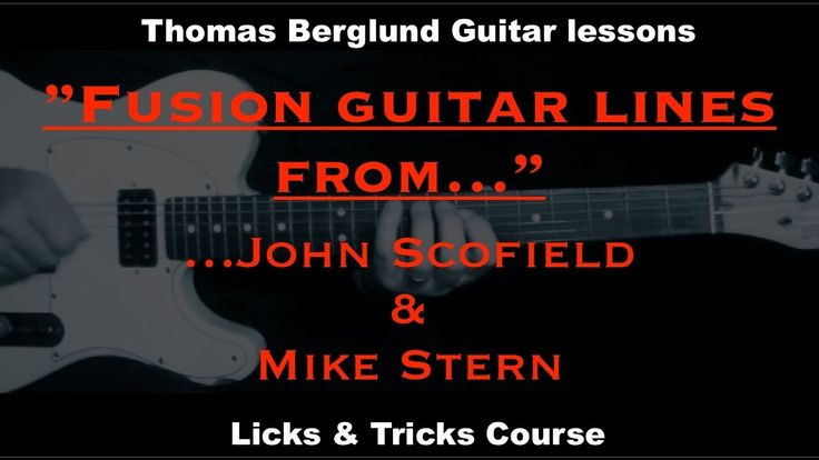 """In this new fusion / jazz guitar lesson there are 2 great guitarists lines I´m playing, discuss and analyze. The guitarists are John Scofield and Mike Stern. The John Scofield lines are from the song """"So you say"""" from the album Blue Matter released 1986 and the Mike Stern lines are from the song """"Little shoes"""" from the album Upside Downside also released 1986. These two guitarists are masters in improvisation and in these soloing parts they show the ability to have a goal and go there…"""