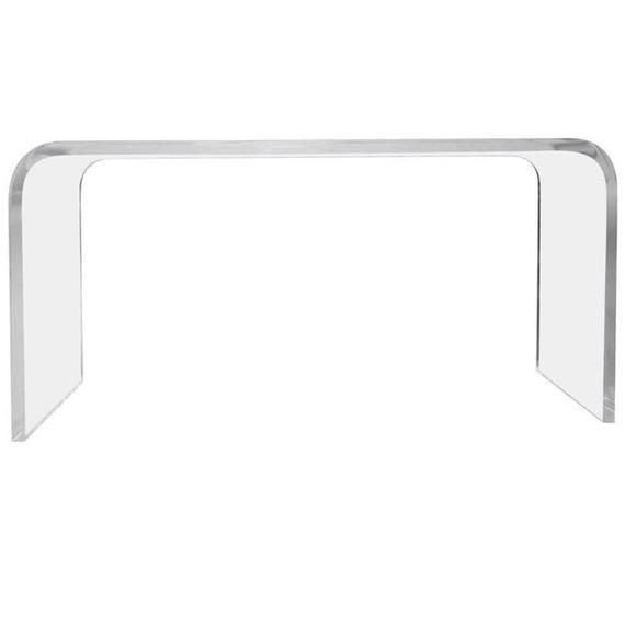 60 Waterfall Lucite Console Table Acrylic Table Lucite Table Various Sizes Available Lucite Table Lucite Furniture Acrylic Table