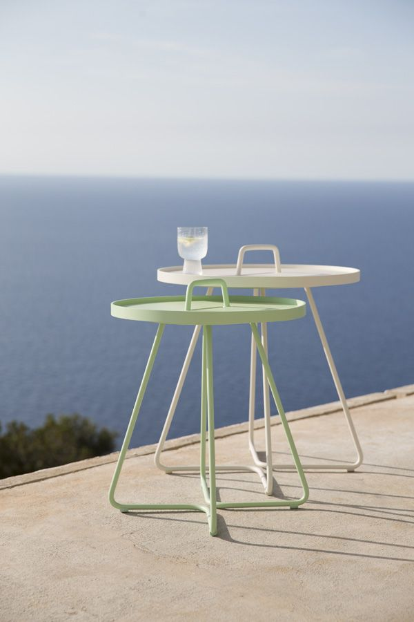 On The Move - Tray Table - White + Mint
