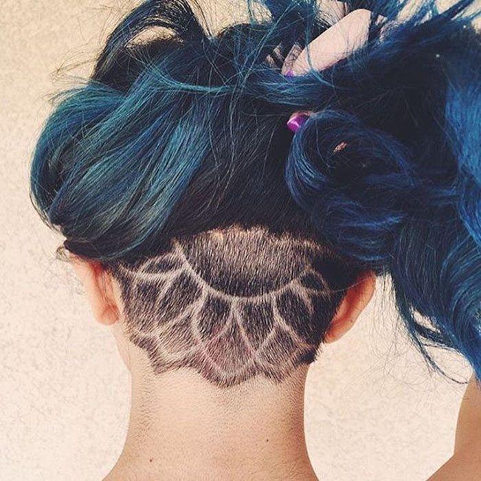 tatuaje capilar en la nuca