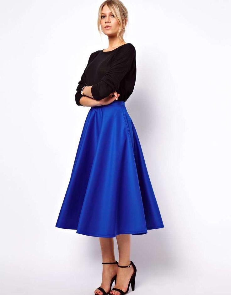 78 best Midi skirt outfits images on Pinterest   Midi skirt, Full ...