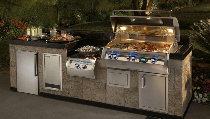 ▷ 1001+ Ideen für Outdoor Grillküche mit modernem Design ...