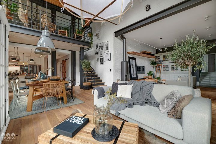 Spectacular Industrial Brooklyn Loft Loft Spaces Interior