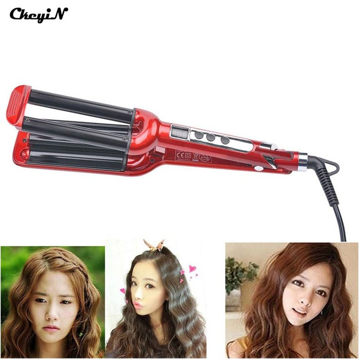 19.30$  Buy now - http://aliqo6.shopchina.info/go.php?t=32612054871 - Professional LCD Hair Curler Roller Salon Styling Tools 30mm 3 Barrels Ceramic Deep Wave Curler Hair Curling Iron Curling Wand42  #shopstyle
