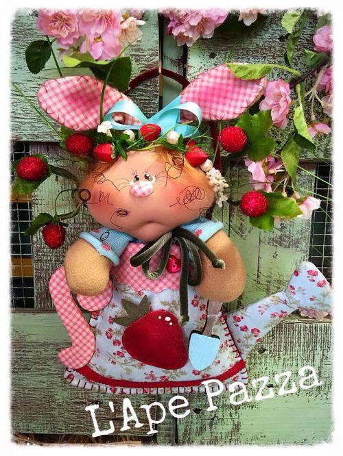 """Cartamodelli Conigli primavera 2016 : cartamodello """"l'annaffiatoio di Ester"""""""