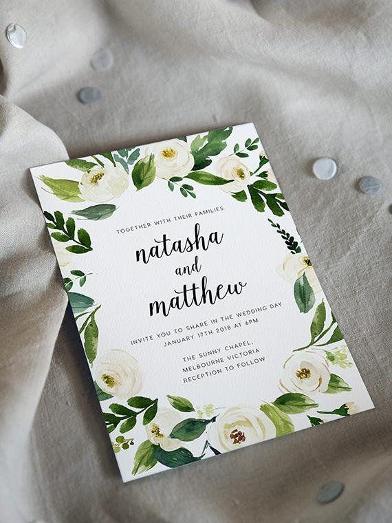 Wedding Invitations Ashen Collection Australia Invite Wedding Invitations Invitations Greenery Wedding Invitations