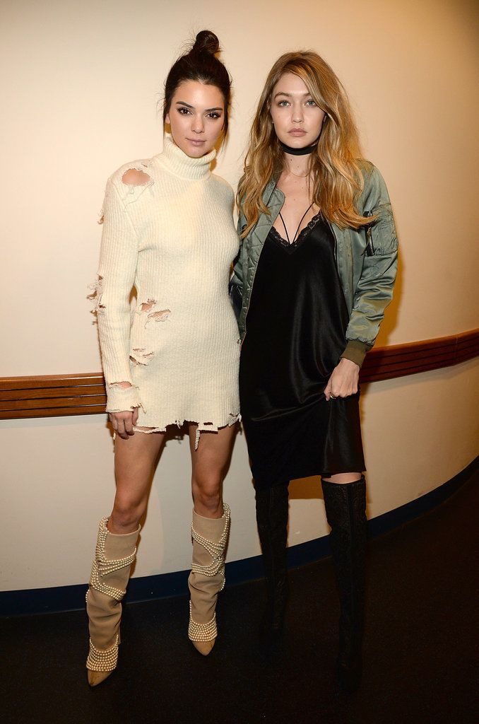 Gigi and Kendall looking badass at Kanye West's fashion show