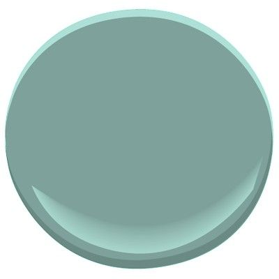 Mill Springs Blue by Benjamin Moore. Gorgeous rich blue-green that doesn't yellow out in artificial light. Final choice for my study.