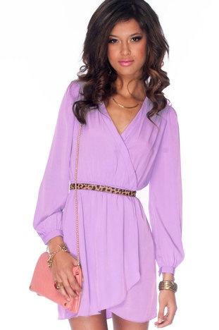 It's a Wrap Dress in Lavender $36 at www.tobi.com