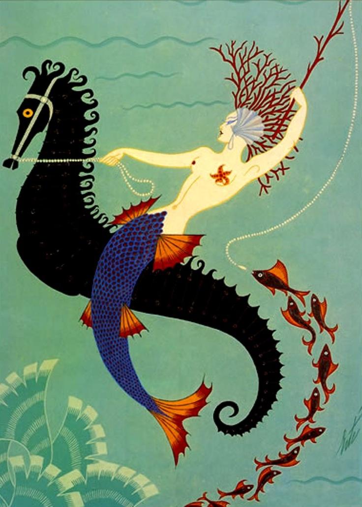 Art Deco - Erte (Romain de Tirtoff, 1892-1990) Water