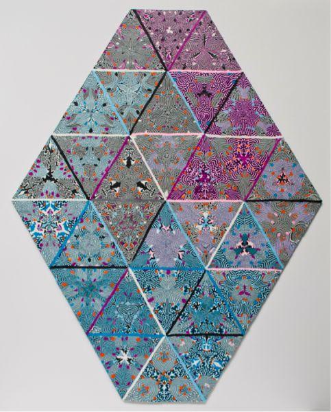 Magdalena Atria en Galería XS, Justicia, 2011, Plasticina sobre aluminio. Cortesía: XS