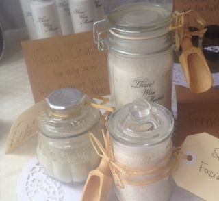 We make up our Clay face masks with lavender and rose or you can get a face wash made just for Sensitive skin..