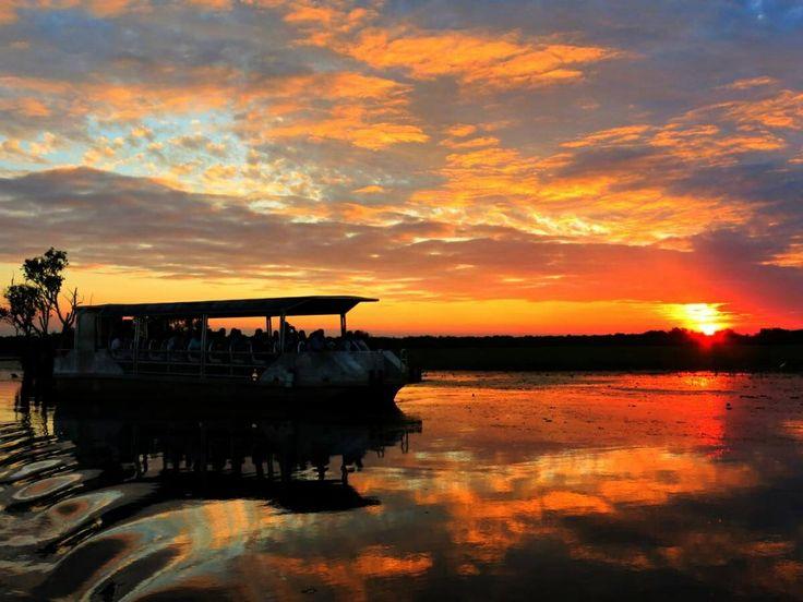 Tourist boat at Yellow Waters, Kakadu, Northern Territory Australia