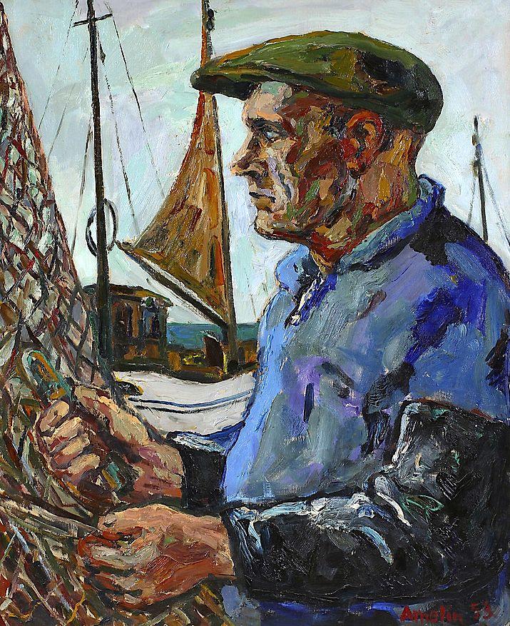 Albin Amelin - Fisherman in the Port