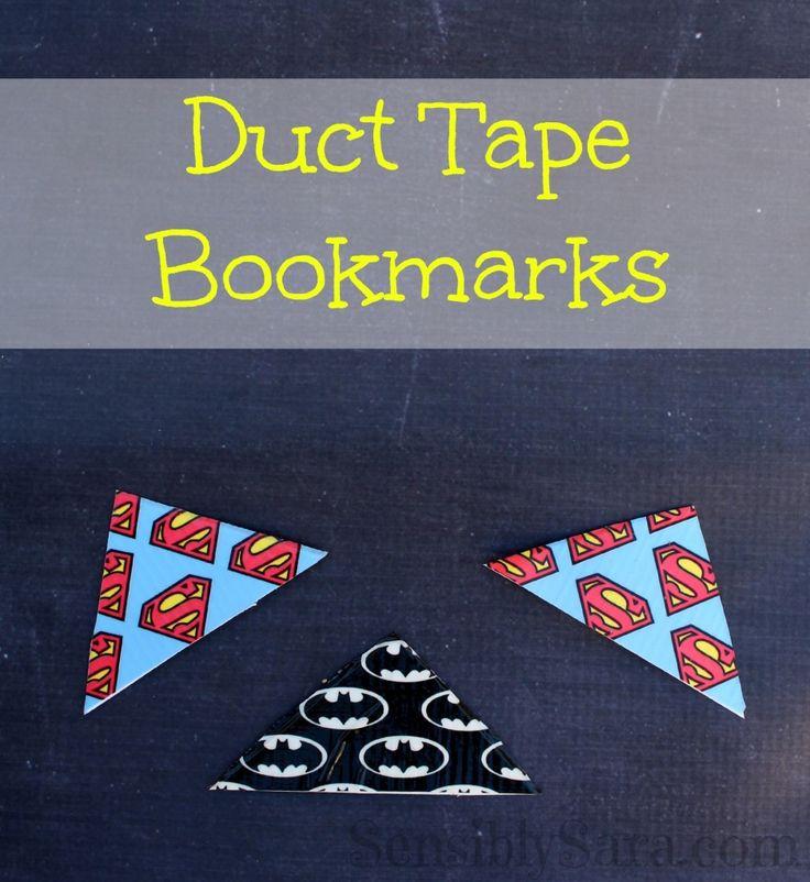 DIY Duct Tape Bookmarks | SensiblySara.com