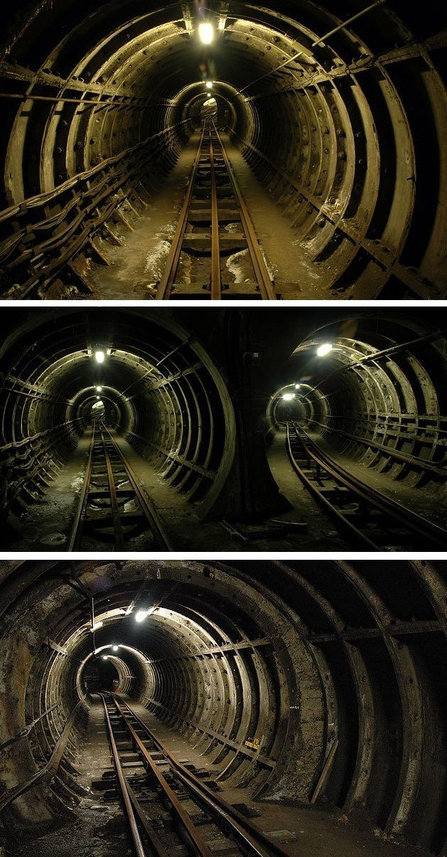 London's abandoned underground Post Office Railway - aka Mail Rail.