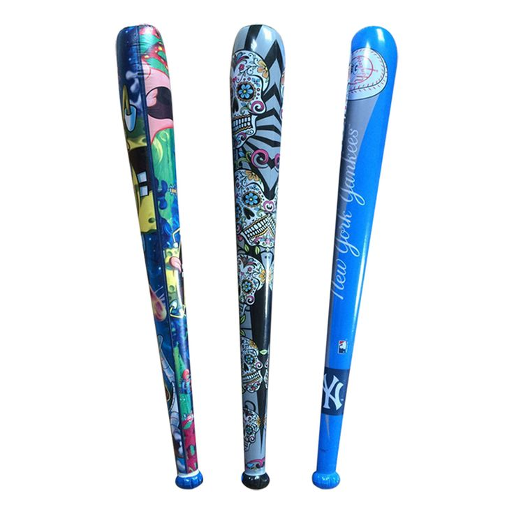 150cm 59inch Cartoon Pattern Inflatable Baseball Bat For Kids Party Supply Games Blow Up Toy Children Inflated Cudgel Hammer