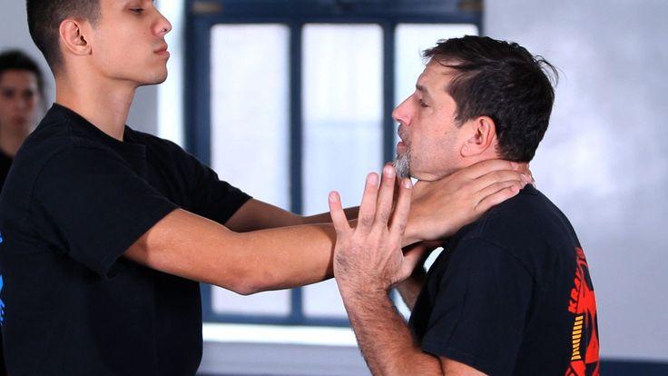 Watch more Krav Maga Self-Defense Techniques videos: http://www.howcast.com/videos/509318-How-to-Do-a-Side-Kick-Krav-Maga-Defense Learn how to defend against...