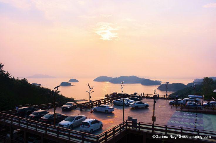 Breathtaking Sunset At Dara Park Tongyeong