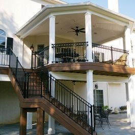 1000+ ideas about Two Level Deck on Pinterest | Tiered deck, Deck ...