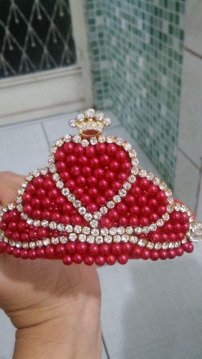 Tiara Coroa Puro Luxo Vermelha
