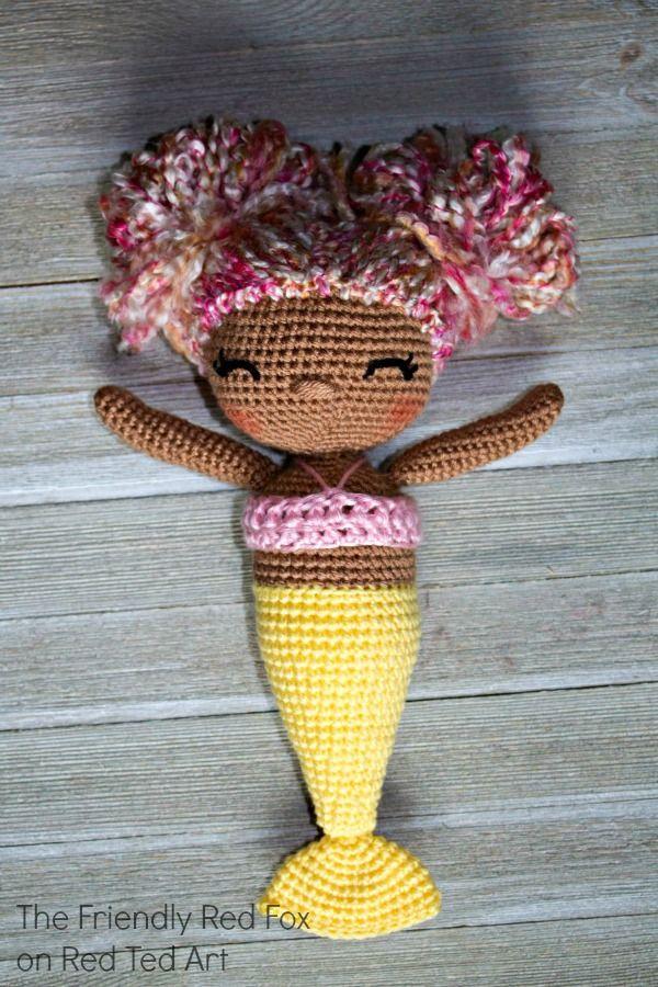Free Mermaid Crochet Pattern Crochet Pinterest Crochet Dolls