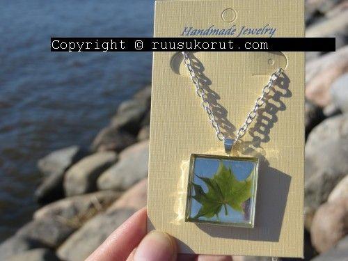 #ruusukorut.com #Real #leaf #necklace