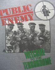 Original PUBLIC ENEMY Welcome to the TERRORDOME Vtg 1989 Rap hip hop T-shirt 80s