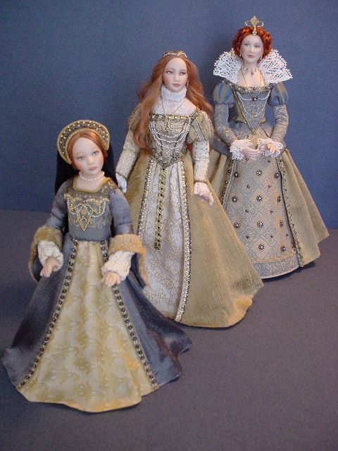 THROUGH THE YEARS - QUEEN ELIZABETH 1: Little Lizzie, Young Bess and Golden Glorianna by Debbie DP, via Flickr
