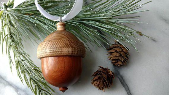 Acorn Ring Box Engagement Ring Box Wood Ring Box Wood Tree Handcrafted Art Wood Ring Box Engagement Ring Box
