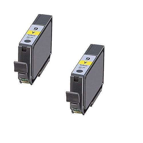 Office Mountain 2-Pack Compatible Yellow Ink Cartridge Canon CAN-PGI-9Y for PIXMA Pro9500 | Rated for 390 pages