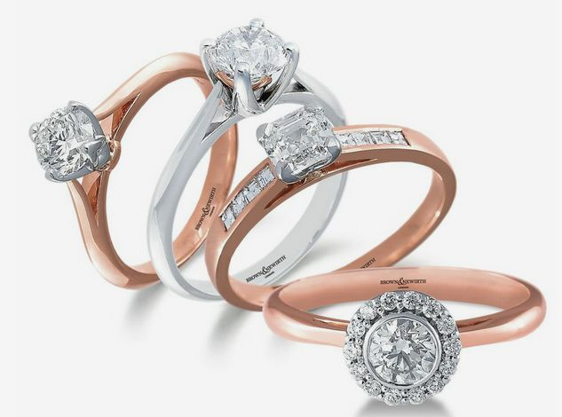The Latest Group Shot of Brown & Newirth Rose Gold & White Gold Engagement Rings #CreatingMemories #ForHer