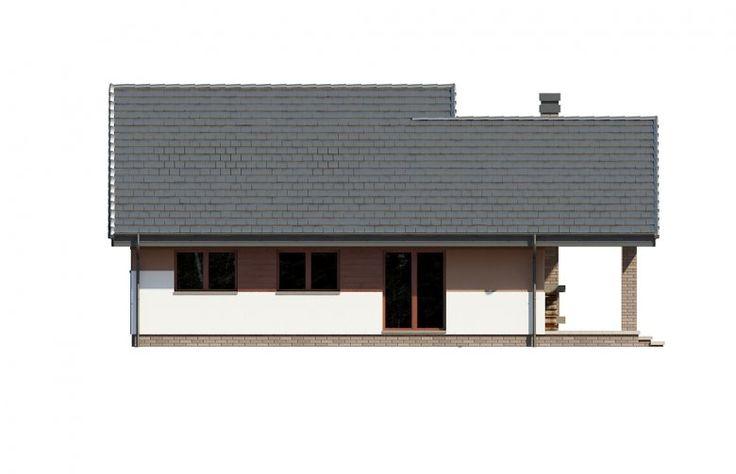 Projekt domu dwurodzinnego Maja - elewacja 3